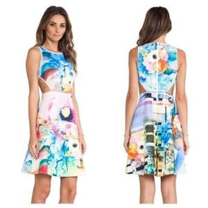 Clover Canyon Floral Neoprene Dress